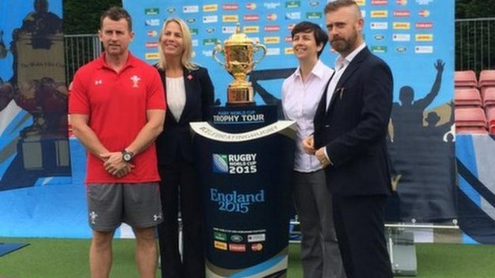 The Webb Ellis Trophy comes to Cardiff